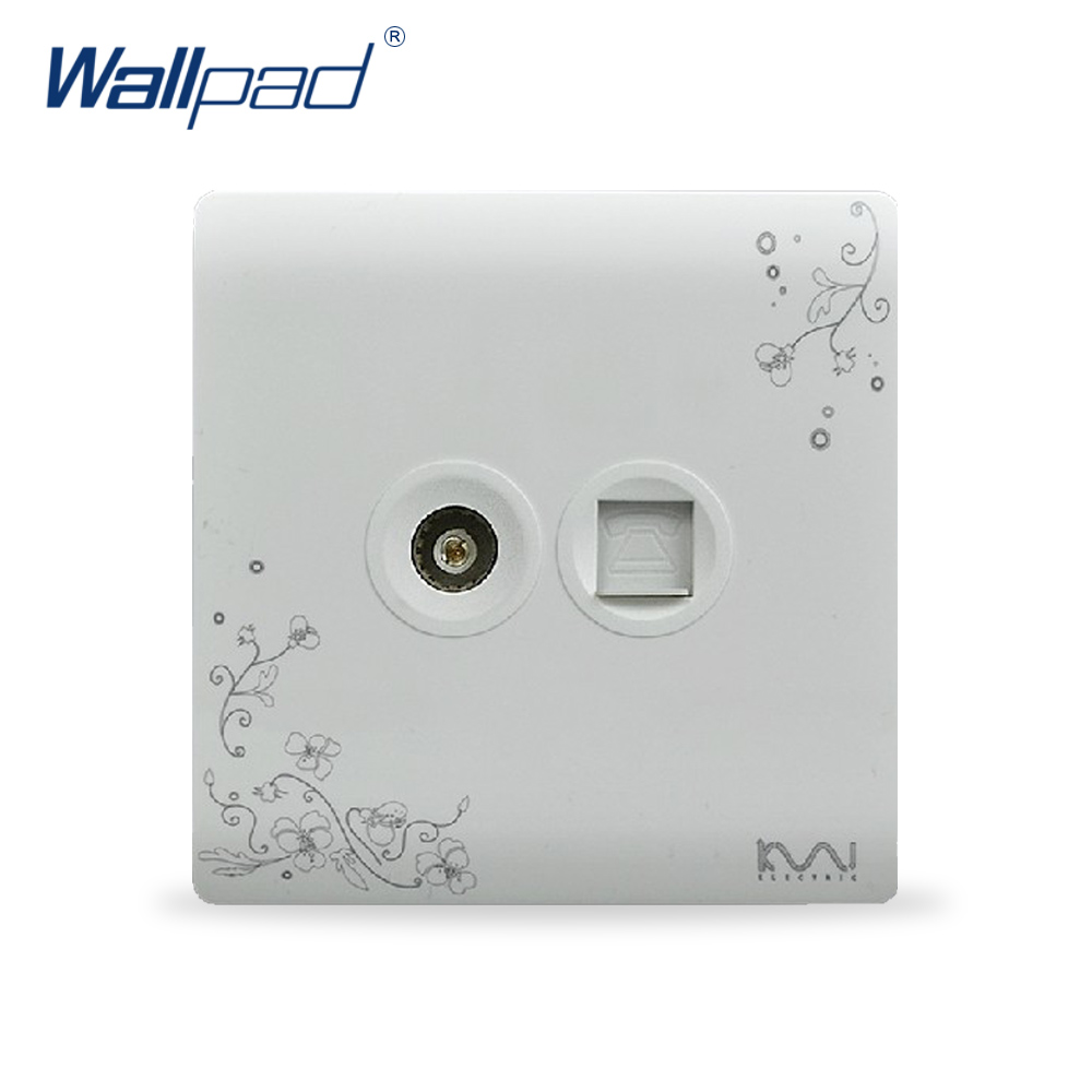 2018 Hot Sale TV And TEL Socket Outlet Wallpad Luxury Wall Switch Panel Socket 86*86mm 10A 110~250V