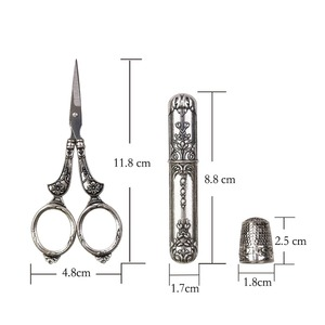 Image 5 - European Vintage Sewing Kit Scissors Metal Thimble Needle Case DIY Sewing Tools for Embroidery Cross Stitch Craft Accessories