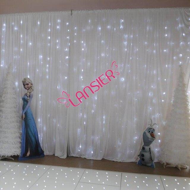 Toile De Fond De Mariage Lumineux Rideau 3x6 Metre Pas Cher De Luxe