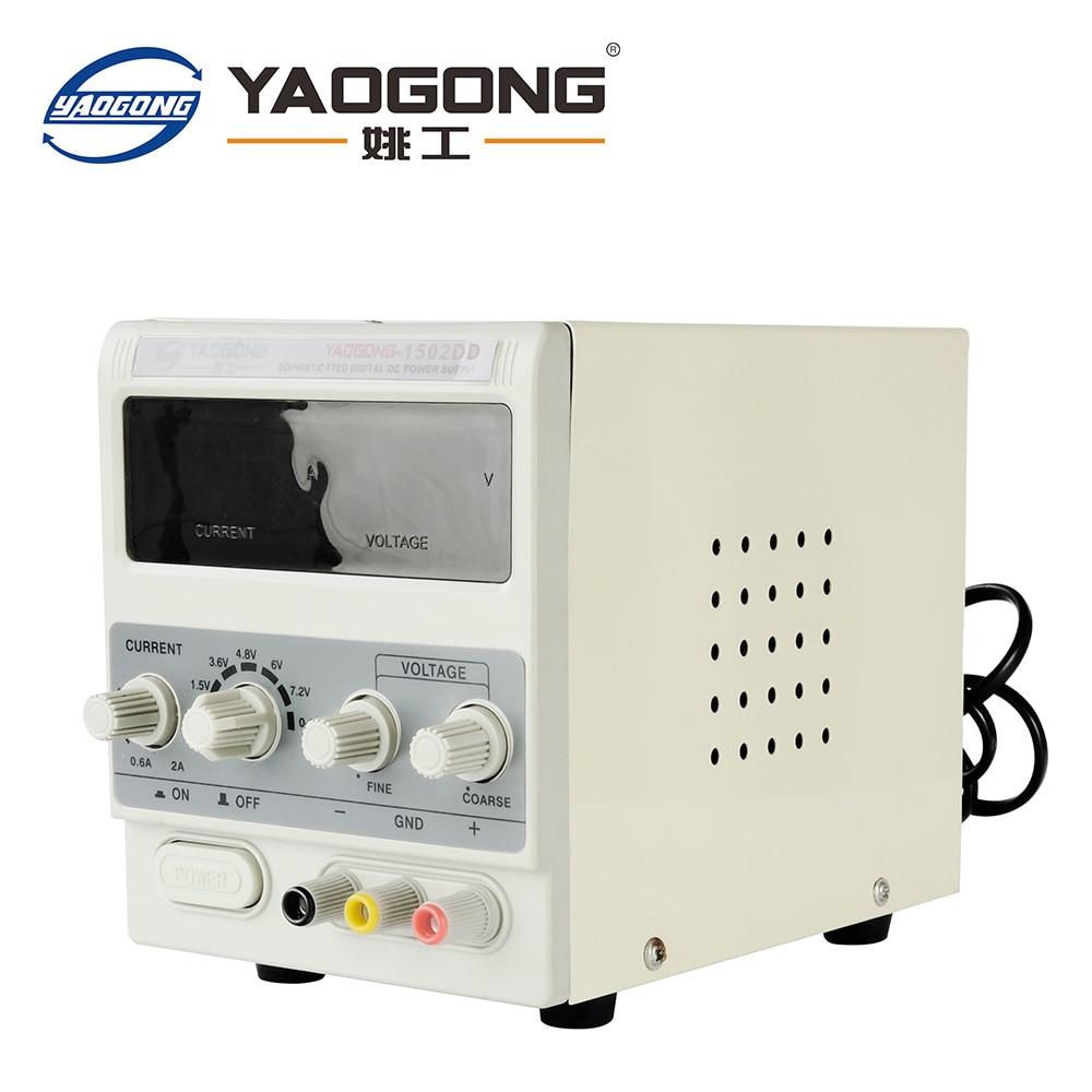 Yaogong 1502DD Heißer Verkauf Artikel 15V 2A Ac Zu Dc Netzteil Einstellbare Strom Für Handy Reparatur