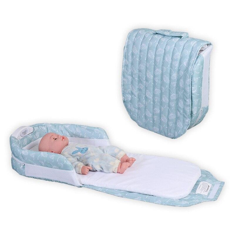 portable folding baby Crib bed multi-function newborn diaper pack portable sleeping kid bed mattress маска the saem punch sleeping pack peach sleeping pack