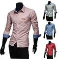 2016 Camisa Cuadros Hombre New Autumn Fashion Brand Men Clothes Slim Fit Men Long Sleeve Shirt Men Plaid Casual Men Shirt  XXL