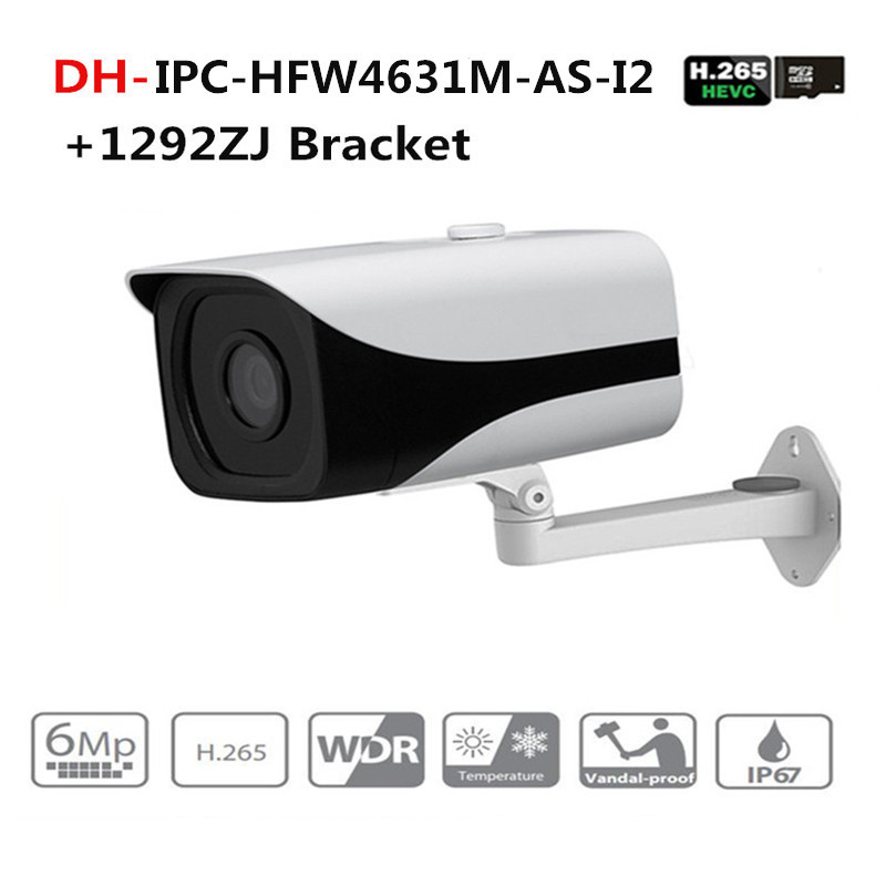 DH IPC-HFW4631M-AS-I2 6MP Stellar Camera built-in POE SD Card slot Audio Alarm interface IP67 IR80M outdoor IP Camera With Dahua dahua ipc hfw4431k as i6 stellar camera 4mp poe sd card slot audio alarm interface ip67 ir150m bullet camera with bracket