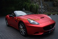 High Quality Matte Satin Chrome Red Vinyl Red Satin Chrome Wrap Film Air Free Bubble For Car Decals