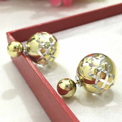 Korean jewelry noble spirit full of water droplets pendant earrings female Fangzuan 8ED44