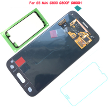 FIX2SAILING 100% Geprüfte funktion AMOLED LCD Display Touch Screen Für Samsung Galaxy S5 Mini G800 G800F G800H