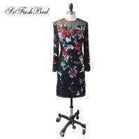 Vestido de festa О образным вырезом одежда с длинным рукавом Короткие мини платья кружево платья для выпускного вечера короткие черное платье для
