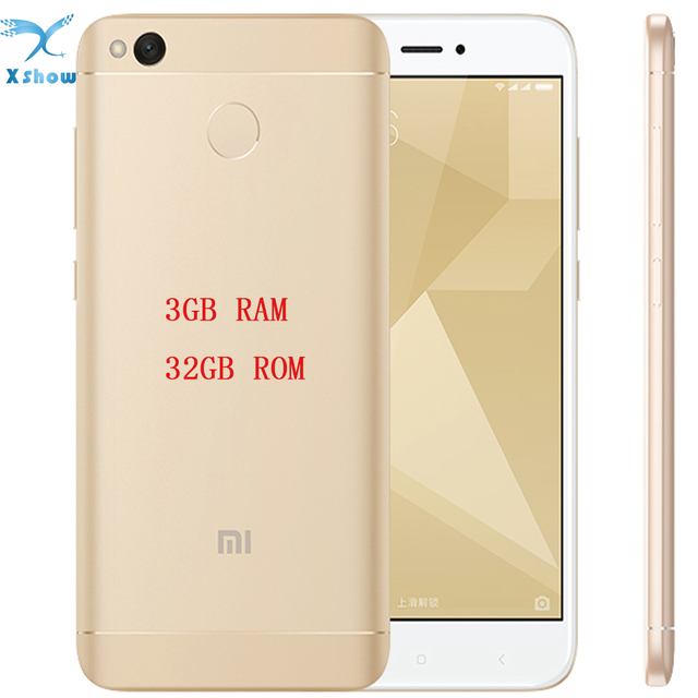 "brand new Xiaomi Redmi 4X PRO 3GB RAM 32G ROM Fingerprint ID Snapdragon 430 Octa Core 5"" 720P 13MP Camera mobilephone"