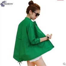 TNLNZHYN 2017 spring new Women clothing sunscreen jacket fashion loose large size casual 7 points sleeve