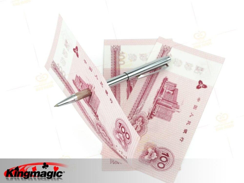 Металлический проникновение ручки через металлический Исполнительный фокусы магический реквизит карты