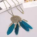Collier Femme Plume Native American Fringe Necklace Collier attrape reve Colares Boho Chic Collana Wholesale Choker Necklaces