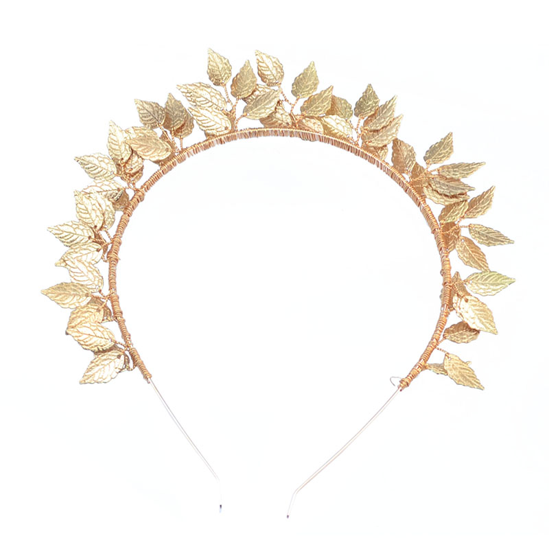 Baroque Forehead Jewelry Silver Gold Metal Leaf Pageant Hair Band Tiara Bridal Wedding Hair Accessories For Women Headpiece 2019