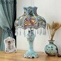 Европейская Светодиодная настольная лампа  прикроватная лампа для спальни  настольная лампа в стиле ретро  принцесса  свадебное украшение  ...