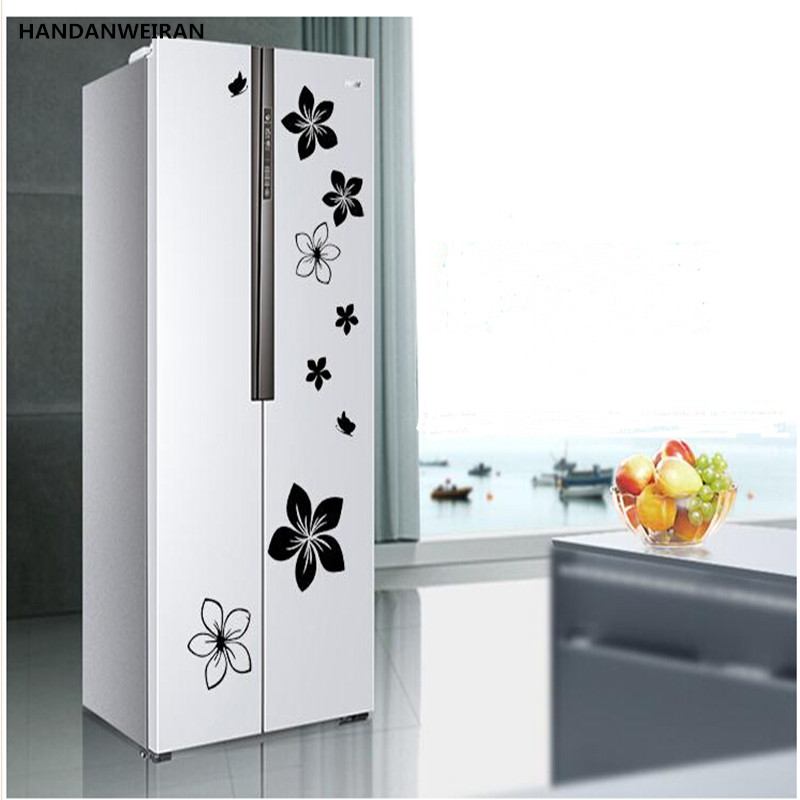 1sets on the refrigerator door with decorative wall for Kitchen colors with white cabinets with word wall art stickers