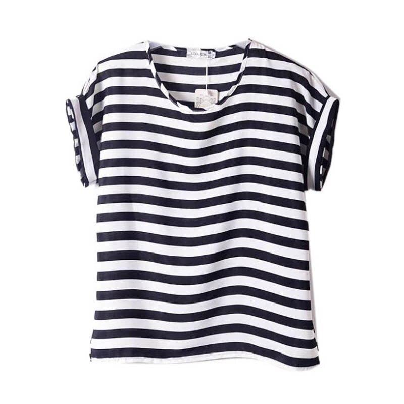 Mujeres Batwing Casual Gasa del Verano Camisetas Camisetas Mujer Blusas Impresa
