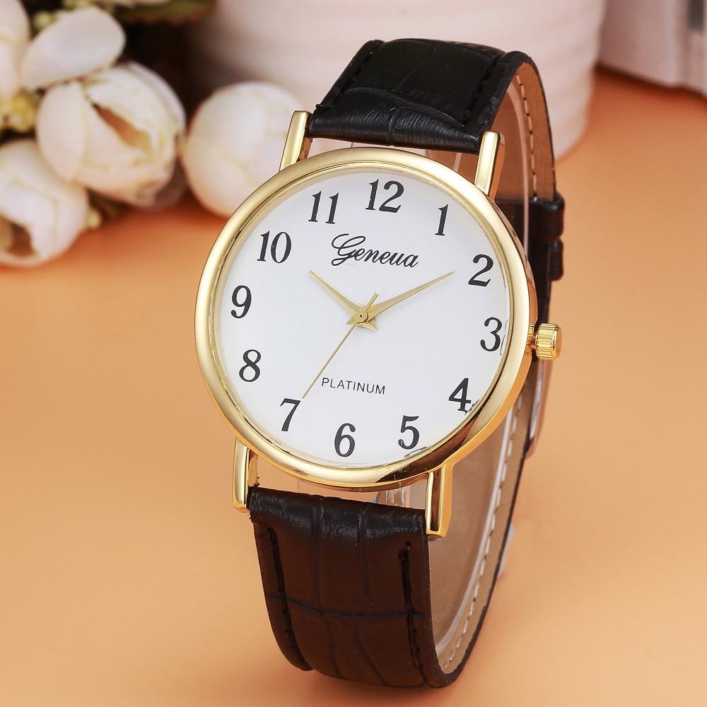 Women Relojes Mujer 2018 Hotting Fashion Women Faux Leather Analog Quartz Wrist Watch Women Bracelet Watch Ladies Clock &Ff