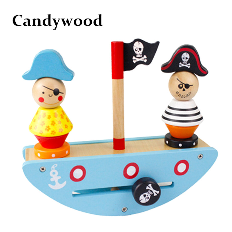 Candywood High quality Pirate Ship Balance Toys Children Educational toys Balance Blocks interaction toy for kids boy gift dayan gem vi cube speed puzzle magic cubes educational game toys gift for children kids grownups