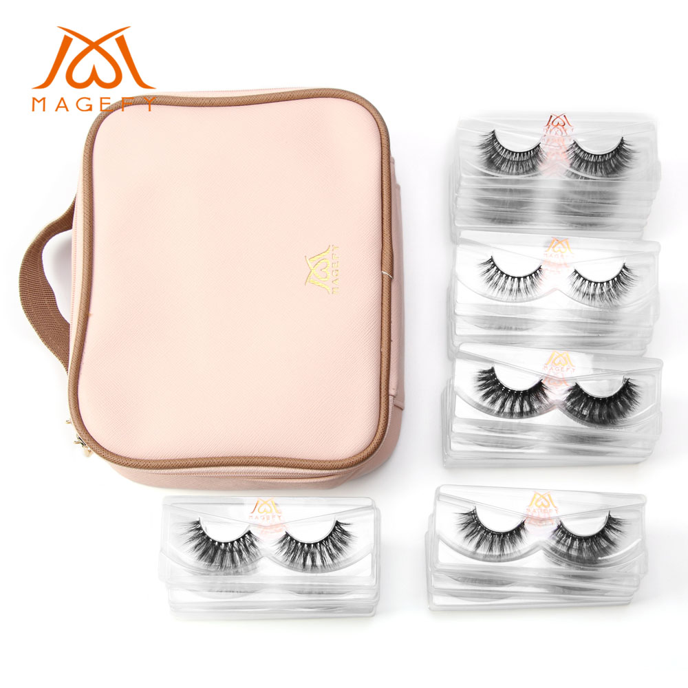 2797a586502 30 pairs/lot 3D Mink Lashes With Pink Makeup Bag Natural Makeup False  Eyelashes Extension Long Volume Fake Lashes faux cils ~ Perfect Deal July  2019