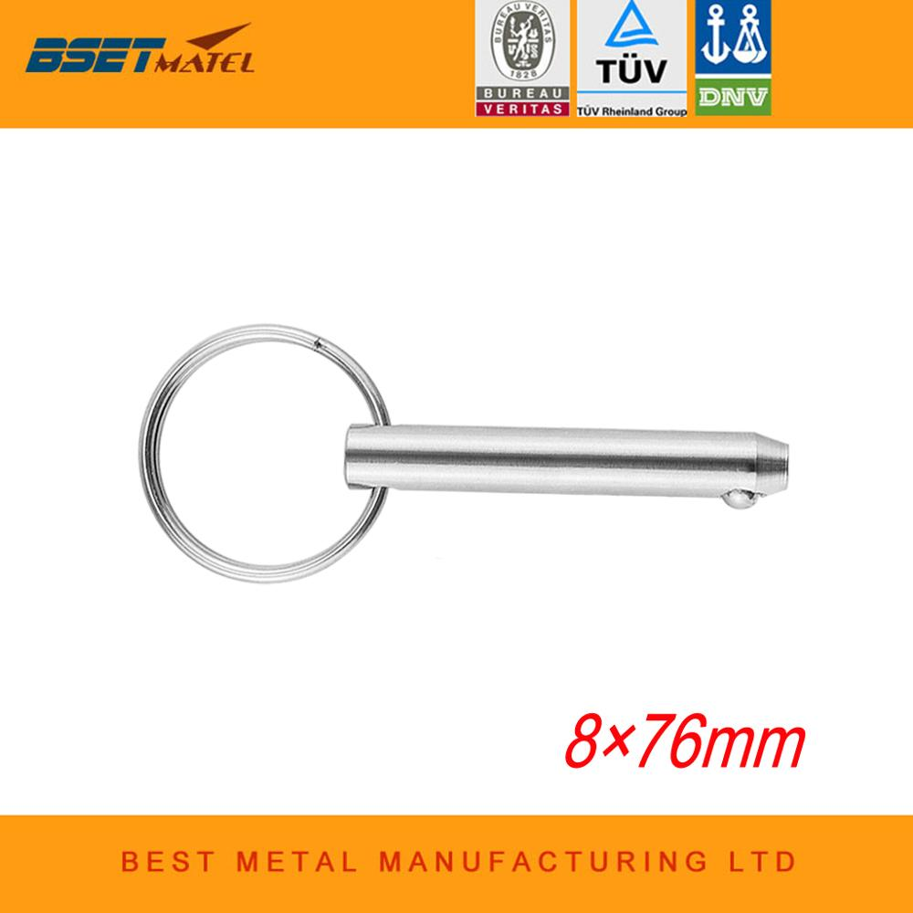 8*76mm BSET MATEL Marine Grade Quick Release Ball Pin For Boat Bimini Top Deck Hinge Marine Stainless Steel 316 Boat Accessories