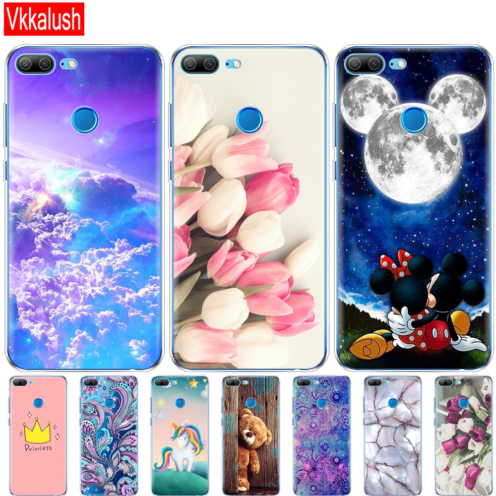 Cover Phone <font><b>Case</b></font> For Huawei <font><b>Honor</b></font> <font><b>9</b></font> <font><b>Honor</b></font> <font><b>9</b></font> <font><b>Lite</b></font> Soft TPU <font><b>Silicon</b></font> Back Cover 360 Full Protective Printing Transparent Coque image