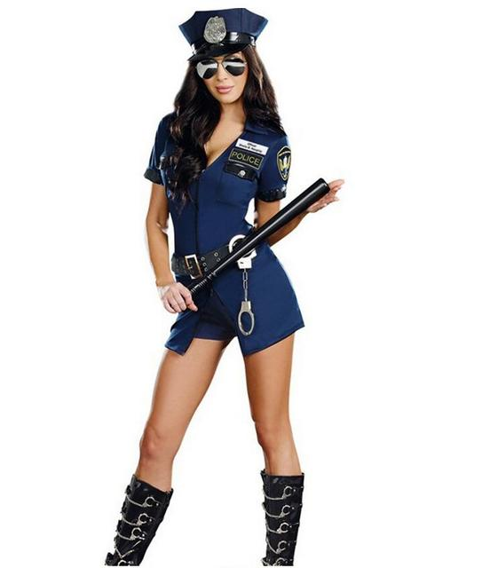 halloween costumes for women police cosplay costume dress uniform policewomen costume outfit prom with handcuffs hat