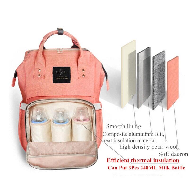 New Upgraded Eambee Fashion Mummy Maternity Nappy Bag Large Capacity Baby Bag Travel Backpack Designer Nursing Bag Baby Care