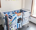 8 pcs Baby crib bedding sets Baseball Sports baby boy sports crib bedding sets baby bed cot sheet