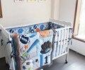 8 pcs conjuntos de cama berço Do Bebê de Beisebol Esportes do bebê esportes menino folha de conjuntos de cama berço cama berço do bebê