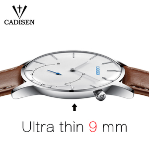 Image 4 - Cadisen Ultra dünne männer uhr relogio masculino Casual Mode quarzuhr Wasserdicht Sport Armbanduhr luxus leder uhr mann