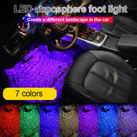 Hot Car Atmospheres Lamp LED Interior Foot Light Ambient USB Decoration Sound Control BX
