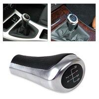 DWCX PU Leather 5 Speed Manual MT Gear Stick Shift Knob For BMW 1 3 5