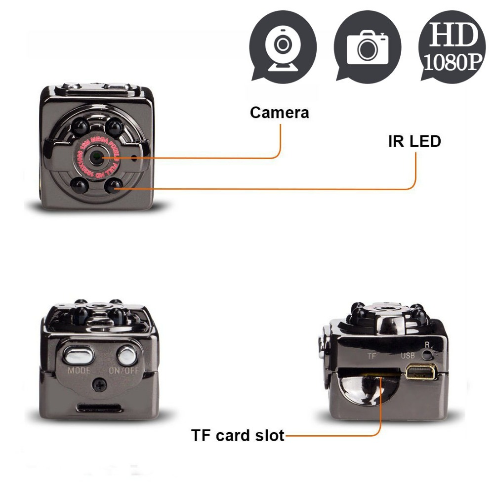 SQ8 Full HD 1080 p cámara Mini cámara videocámara deporte al aire libre la noche Vision DV voz grabadora de Video casco secreto Digital espia