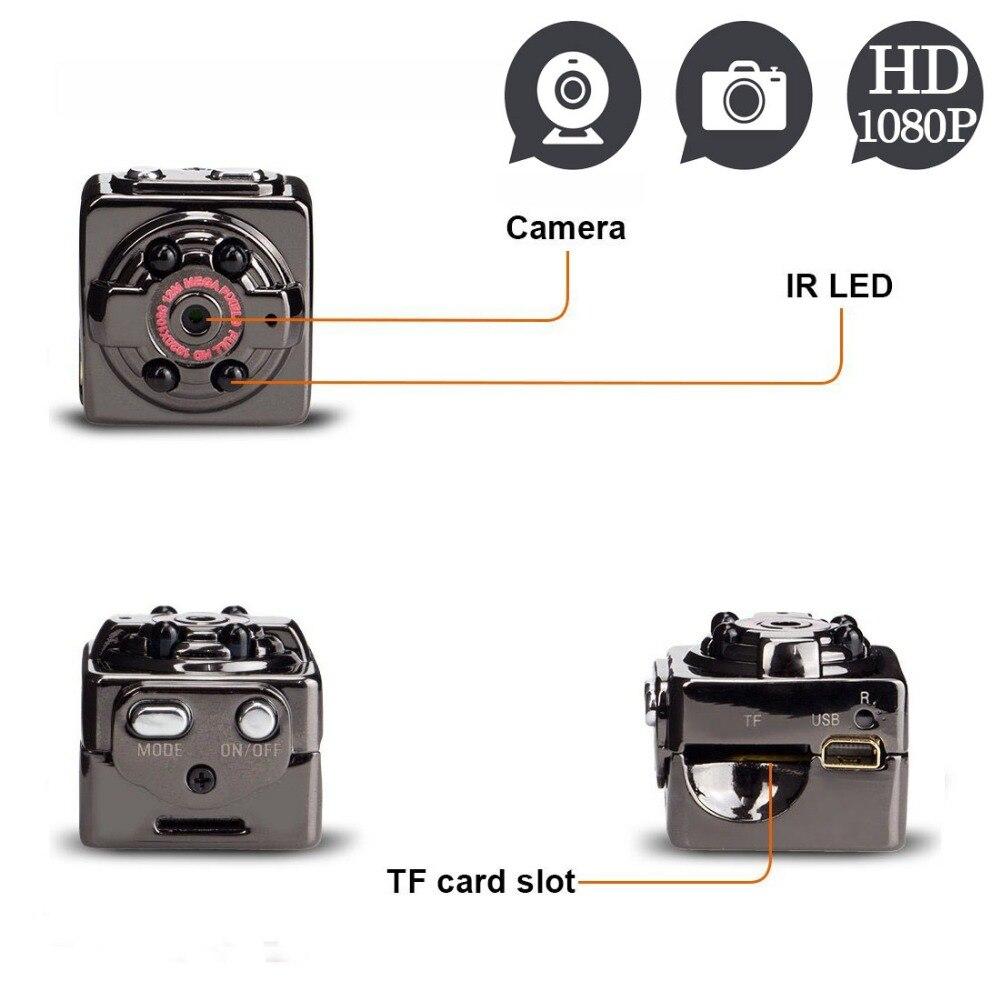 SQ8 Full HD 1080 p Mini Macchina Fotografica Videocamera Portatile della Camma di Sport Esterna di Visione notturna DV Video Recorder Voice Casco Segreto Digitale espia