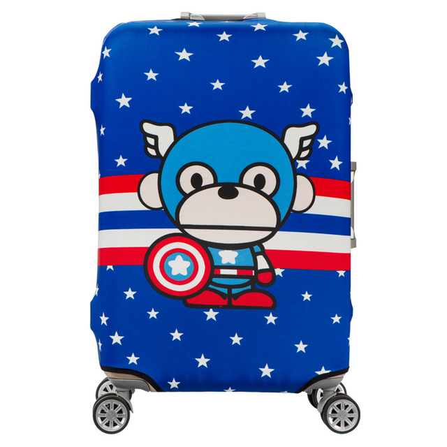 HMUNII Elastic Luggage Protective Cover For 19-32 inch Trolley Suitcase Protect Dust Bag Case Child Cartoon Travel Accessories 2