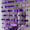 Geometric Sequined Design Curtain Stripes Set 4
