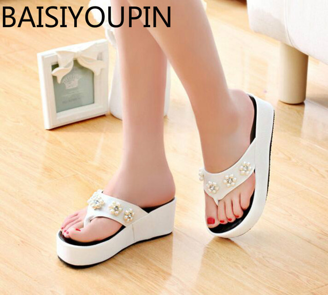 free shipping sale 2018 New simple fashion thick height with anti-water pump flowers buckle fish mouth women's summer sandals outlet big discount cheap online store Manchester cheap wholesale price 9dX1suGB