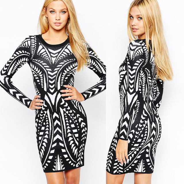 2017 neueste trends fashion digitaldruck dress büro dress online ...