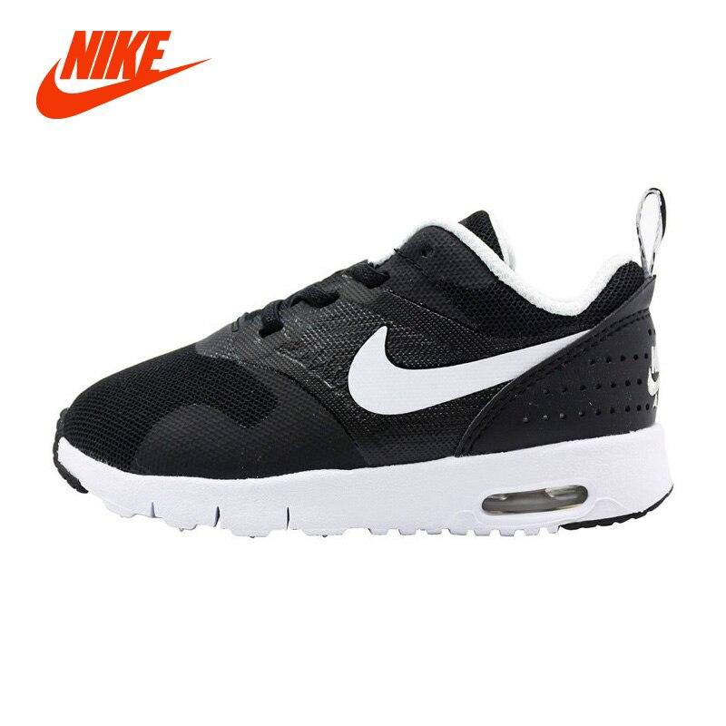 new style cb704 9ec5e Original NIKE AIR.MAX TAVAS Boy Kids Sport Sneakers Girl Children  Lightweight Running Shoes Casual Shoes