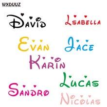 Индивидуальные персонализированные Имя детей домашний декор Детская комната виниловая наклейка Съемная настенная художественная наклейка C08