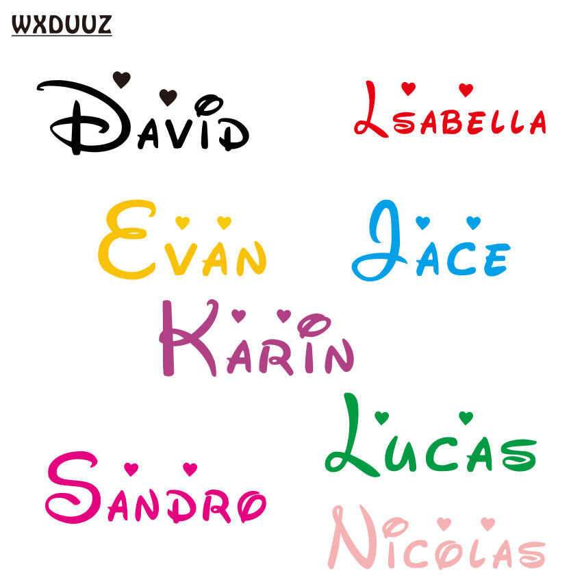 Customized Personalized Name Children Home Decor Nursery Kids Room Vinyl Sticker Decal Removable Wall Art Sticker C08