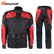 Riding Tribe Men Windproof Waterproof Motorcycle Racing Protective Jacket + Pants Suits Motorcycle Full Body Protector