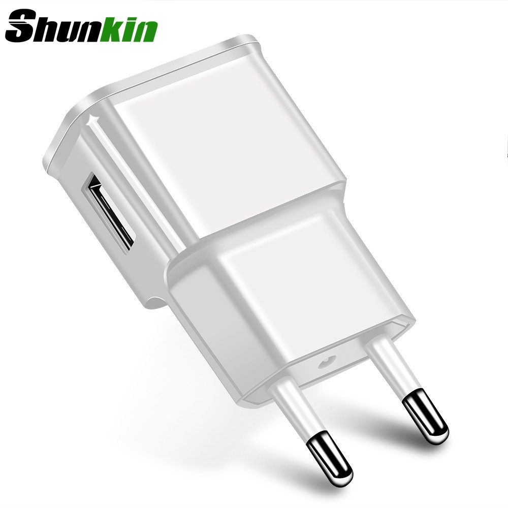 Shunkin USB Charger Travel Charger Wall Adapter Mobile Phone Charger for Samsung Xiaomi Huawei Mobile Phone Micro USB Cable