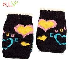 Women Men Winter Warmer Knitted Mittens Fingerless Arm Glove  17SEP14
