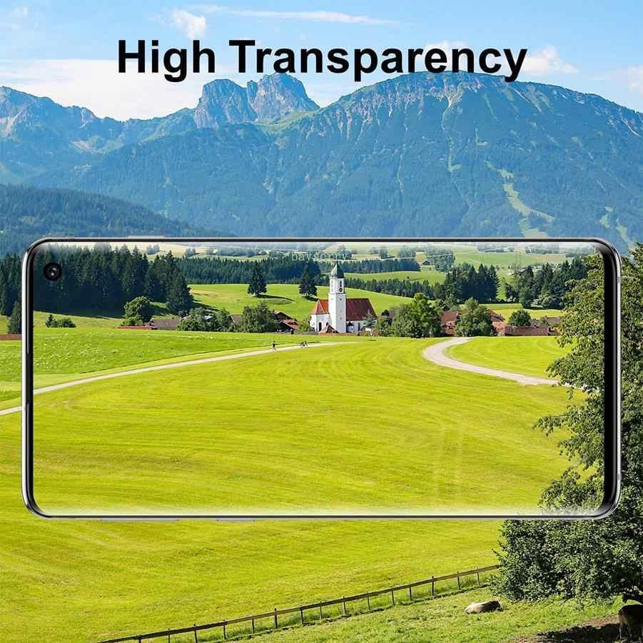 TPU غطاء كامل هيدروجيل طبقة رقيقة واقية لسامسونج غالاكسي ملاحظة 9 8 S10 S9 S8 زائد S6 S7 حافة هيدروجيل واقي للشاشة notGlass