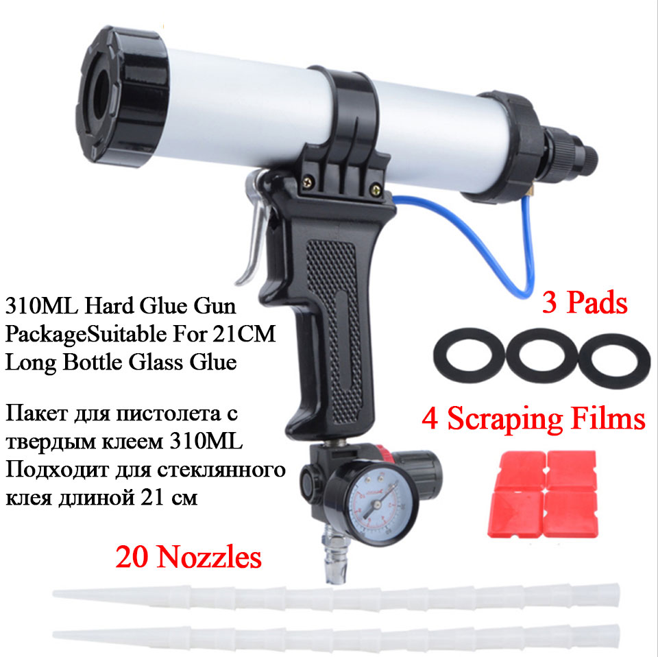 ZQXYSJ Paint&decorating Cartridge Gun Pneumatic Glass Glue Air Rubber Guns Tools Sealant Finishing Tools 310ml Caulking Gun 1pc