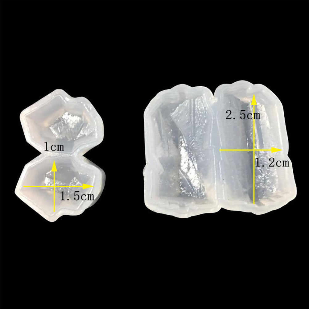 1pcs UV Resin Jewelry Liquid Silicone 3D Irregular Crystal Stone Mold Silicone DIY Resin Jewelry Pendant Necklace Pendant Mold