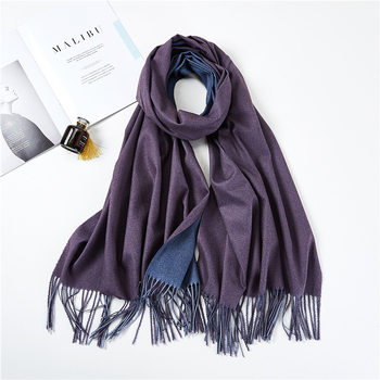 2018 new winter men scarf fashion solid double-side soft cashmere scarves shawl and wraps bandana female foulard Tassel