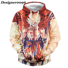 Anime cosplay Dragon Ball Son Goku Cosplay costume surrounding costumes 3D printed hooded sweater Baseball suit Adult