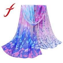 9bad0fab01cf Feitong Mode Soie Écharpe Femmes Nouveau Design Imprimé En Mousseline de  Soie Souple Châle Wrap Wraps