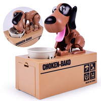Bán buôn Bé Đố Điện Sounding Dog Đồ Chơi Đu Sáng Tạo Ăn Tiền Heo trẻ em Ngân Hàng đồ chơi cho trẻ em Đồ Chơi Mới Lạ Thương Hiệu